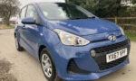 2017 67 plate Hyundai I10. 1.0 litre 5 door petrol in blue metallic